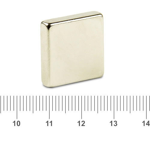 20 x 20 x 5mm NdFeB Radial Block Magnet N45 Ni