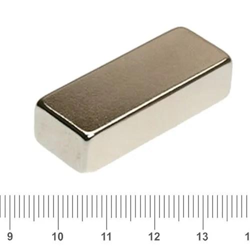 40 x 15 x 10mm NdFeB Motor Block Magnet N45 Ni