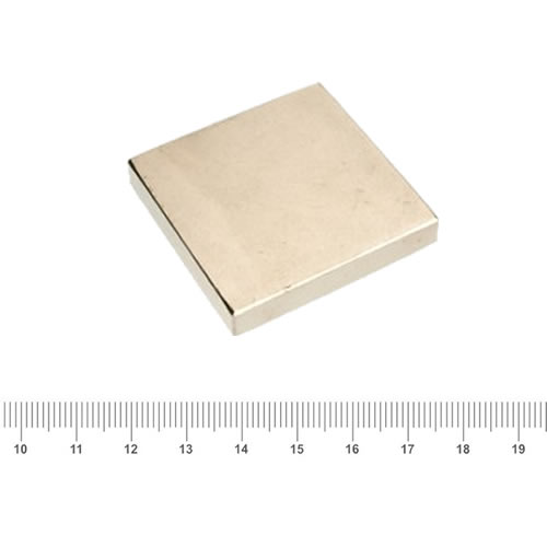 45 x 45 x 6mm NdFeB Super Strong Magnetic Square N40 Ni