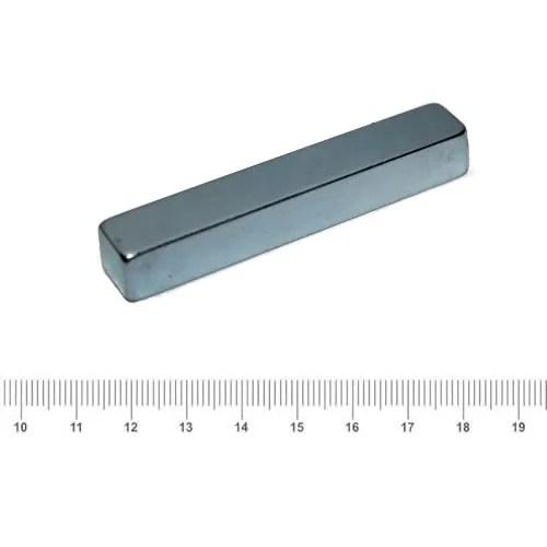 60 x 10 x 9mm Big Block NdFeB N52 Magnet Zn