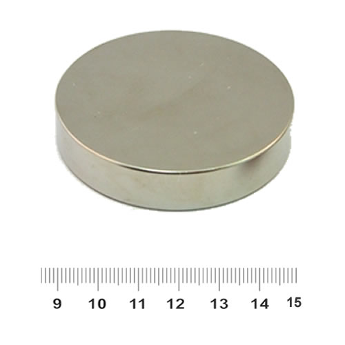 60mm x 10mm Dsic NdFeB Super Strong Magnet N45 Ni