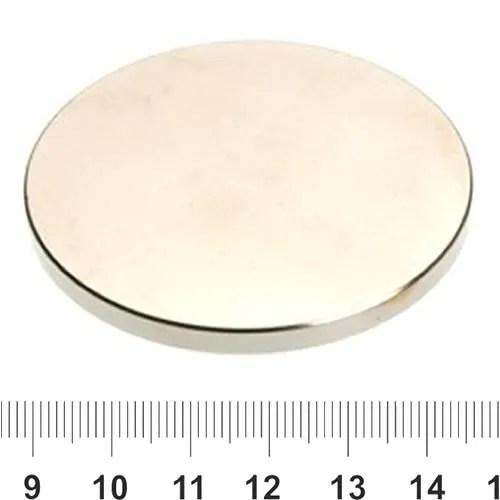 60mm x 5mm Circular NdFeB Super Magnet N42 Ni