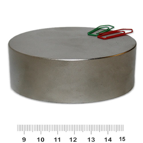 80mm x 30mm Huge Disk Magnet Neodymium N45 Nickel