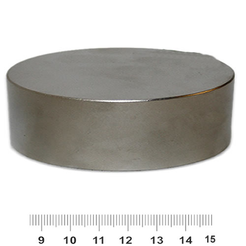 90mm x 30mm Huge Disc Neodymium Magnet N52 Nickel