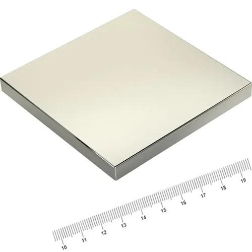 100 x 100 x 10mm Square Rare Earth Power Magnet N52 Ni