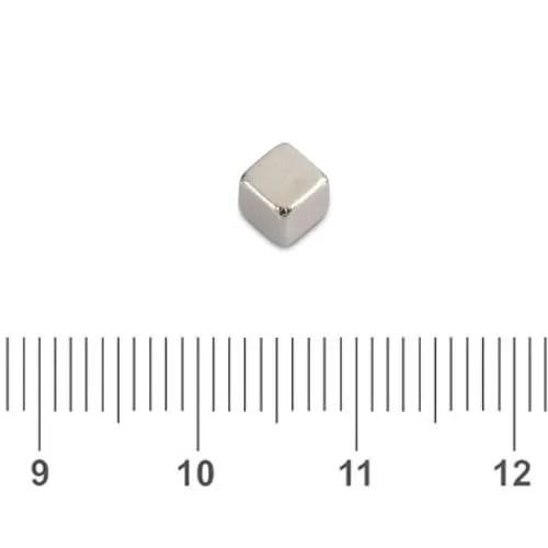 4mm Small Neodymium Cube N50 Ni