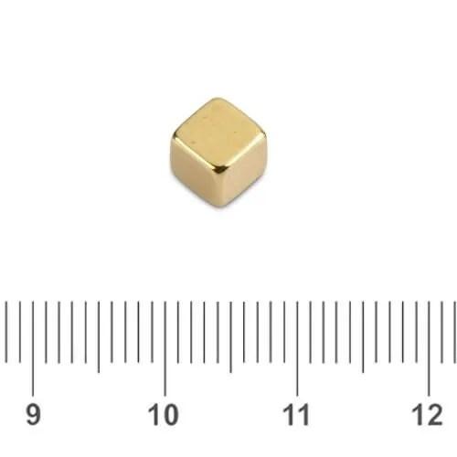 Cube NdFeB Magnet Golden N45 5mm