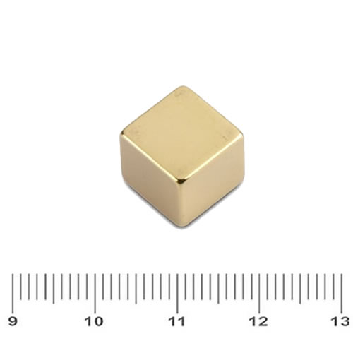 Cubemagnet Neodymium Golden Plating N48 10mm
