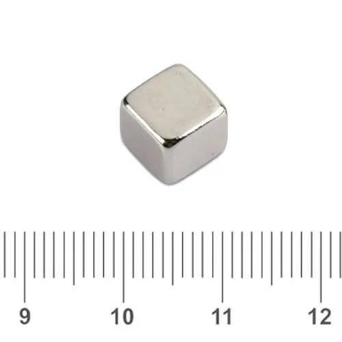 Cubical Neodymium Magnet N50 8mm