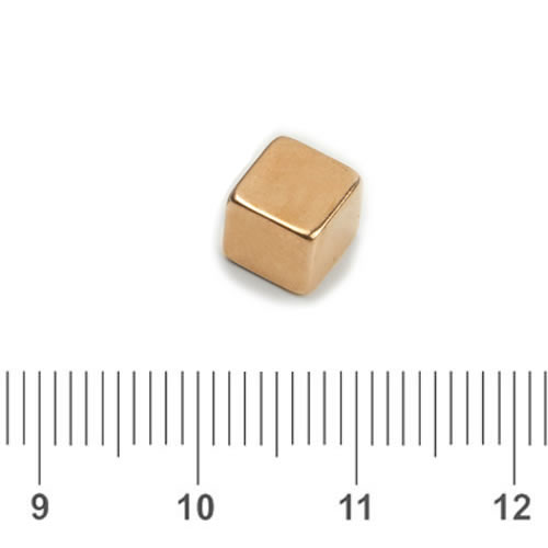 Extremely Elegant Magnet Cube Copper Plating N42 5mm