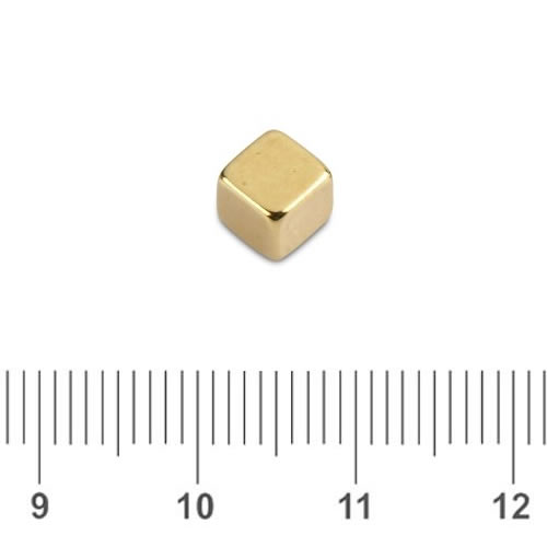 Gold Plating NdFeB Cube N50 5mm