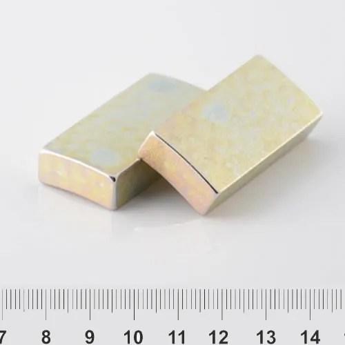 Neodymium Tile Permanent Magnet Cr+Zn N48M