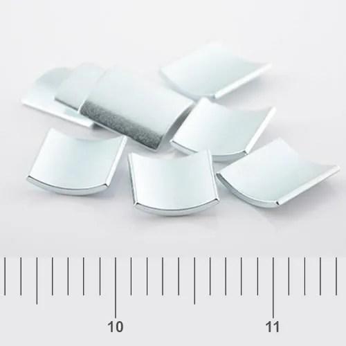 Segment Motor Neodymium Magnet Zn N38SH
