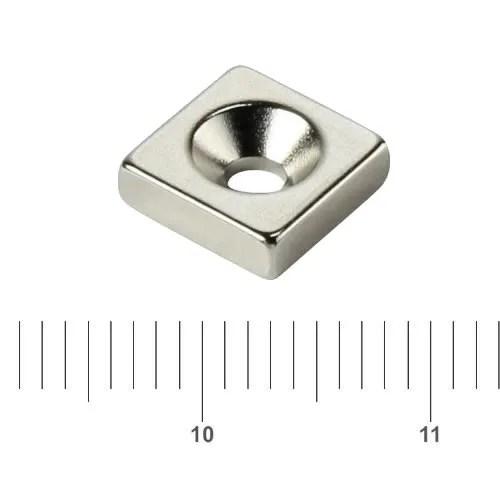 Block Countersunk Magnet