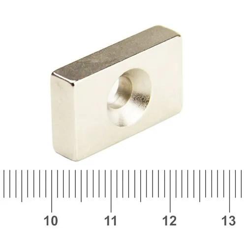 Countersunk Rectangular Magnet