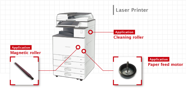 bonded magnets for laser printer