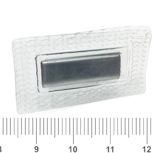 Rectangle Hidden Invisible Sew-In Magnetic Snap 27x8x3mm