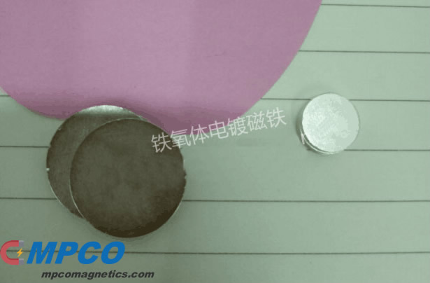 electroplated ferrite magnet