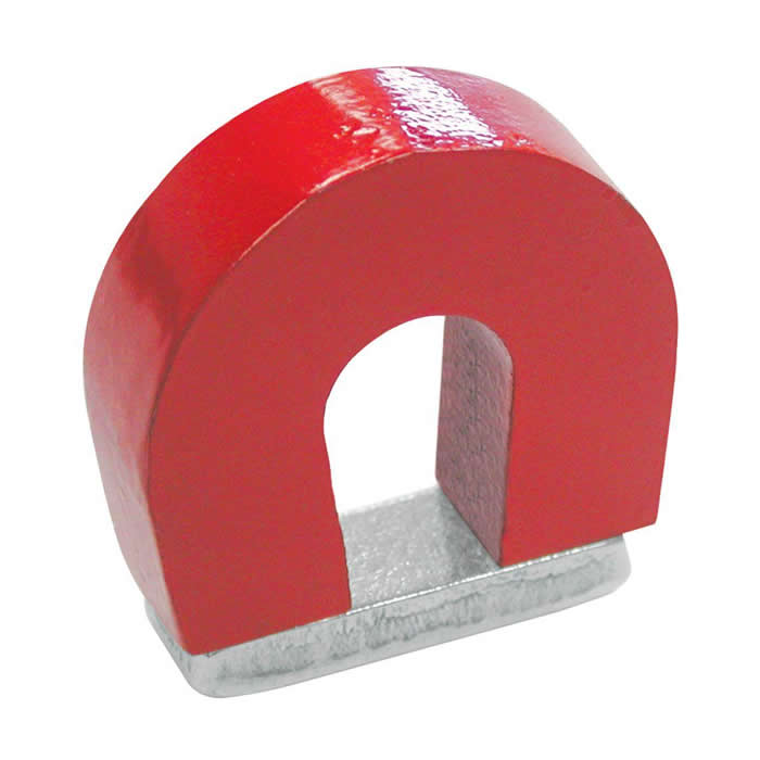 Red Cast Alnico 5 Horseshoe Magnet With Keeper