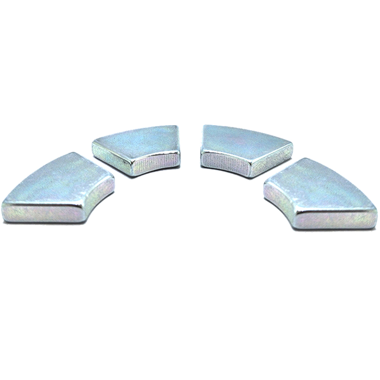 Cr Zn Plated Trapezoid Arc Neodymium Wedge Magnets