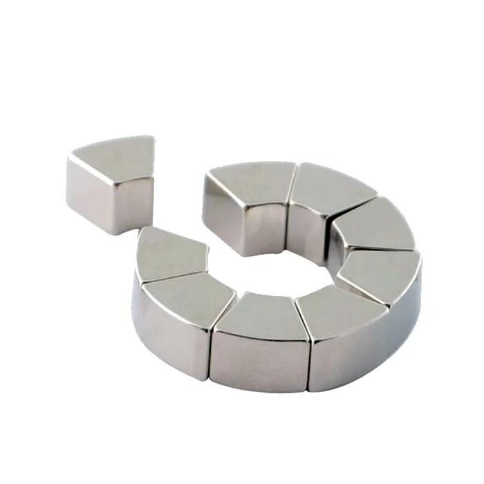 N48H Trapezoid Segment Motor Rare Earth Magnet
