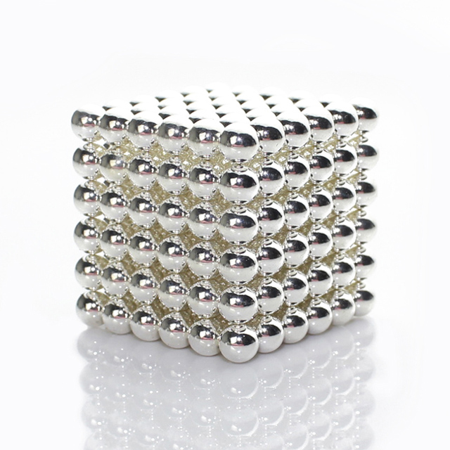 216pcs 5mm Sliver Magic Beads Magnetic Balls