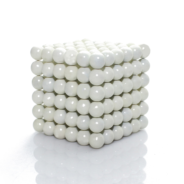 216pcs 5mm Snow White Magnetic Sphere Neo Cube