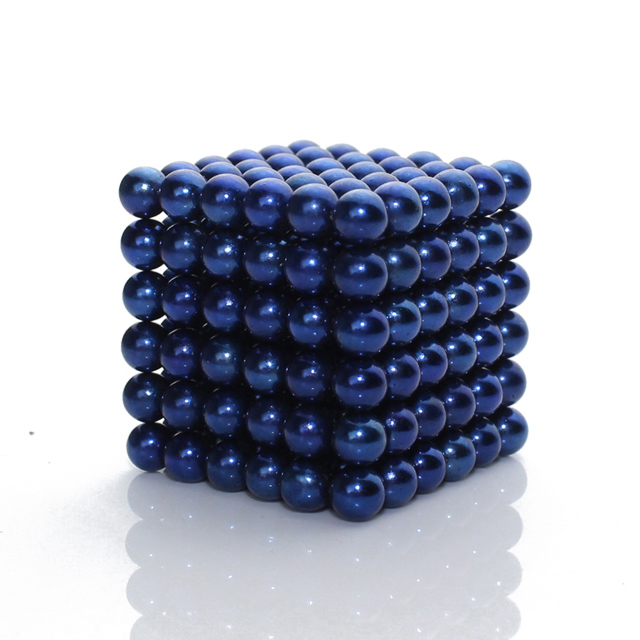 216x5mm Dark Blue Magnetic Sphere Toys NeoCube