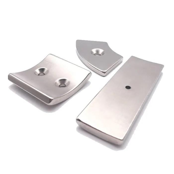 Neodymium-Iron-Boron Segment Countersunk Motor Magnets