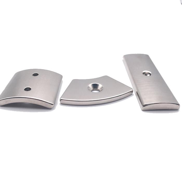 Neodymium Segment Countersunk Magnets for Motor