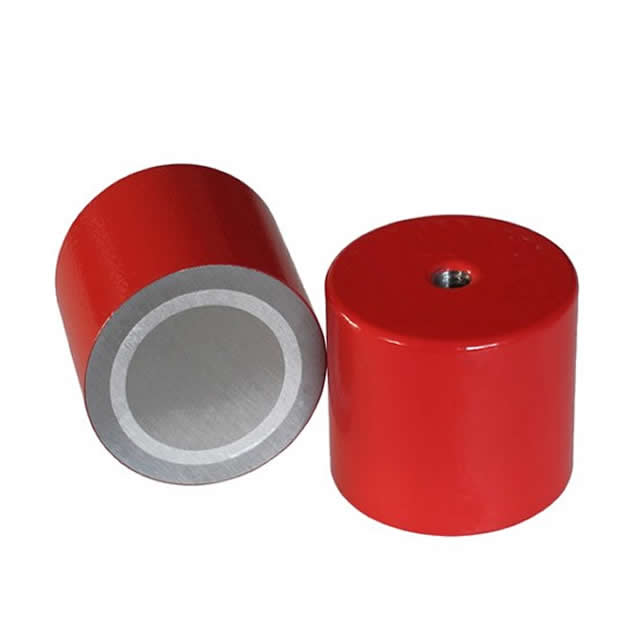 Alnico Holding Magnets Red Painted with Female Thread