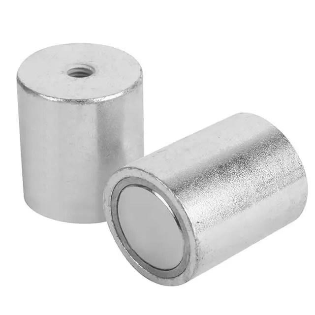 Deep Pot Neodymium Magnets with Internal Thread