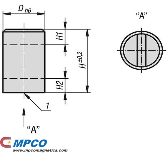 Deep pot round magnets with machinable magnetic face NdFeB drawing
