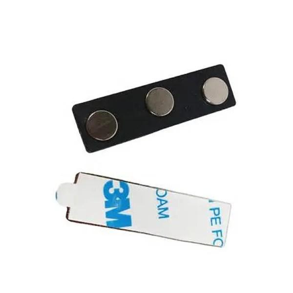 3M Adhesive Plastic Magnetic Blank Name Badge