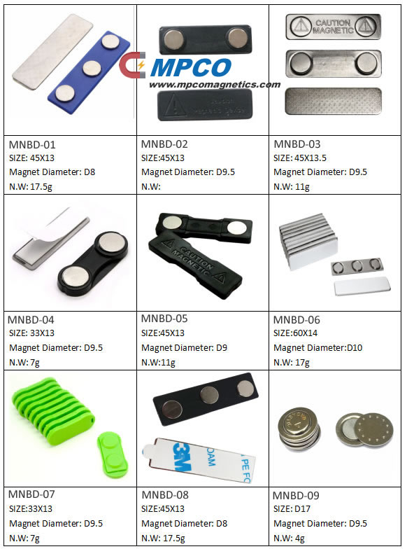 NdFeB Name Badge Magnets