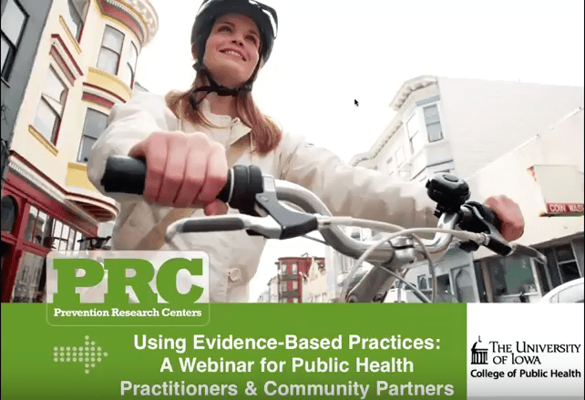 Using Evidence-Based Practices: A Webinar for Public Health Practitioners & Community Partners Image