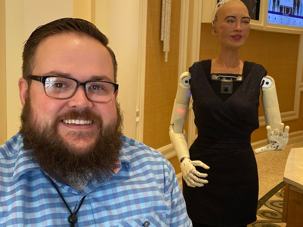 I met sophia the robot
