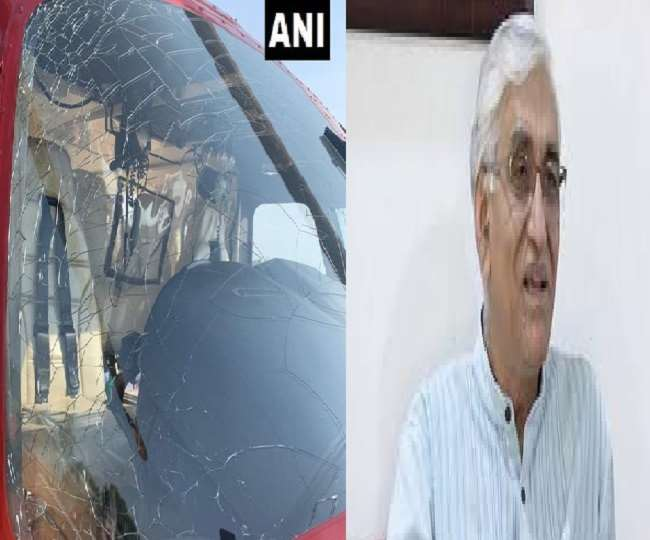 chhattisgarh-health-minister-ts-singh-deo-helicopter-windshield-crack