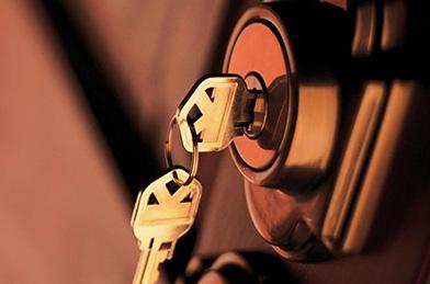 Hanging Key In Door Lock