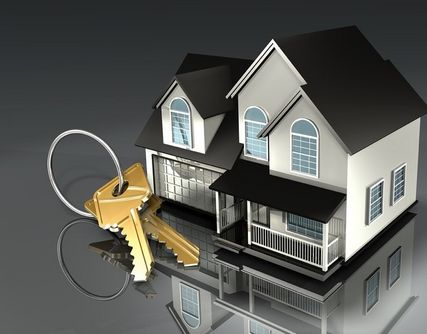 Large House Keys With Residential House Graphic