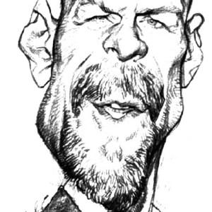 Bruce Willis Καρικατούρα Σκίτσο