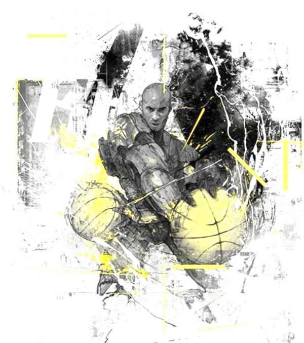 Basketball Ink Art Print