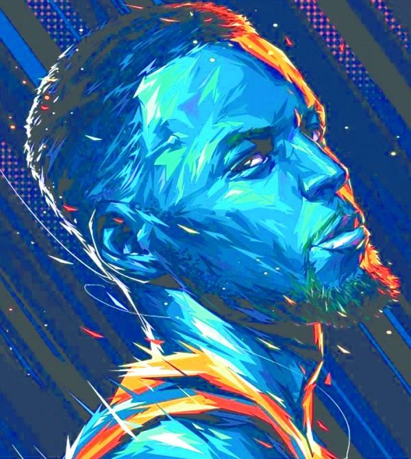 Stephen Curry Fan Art Print