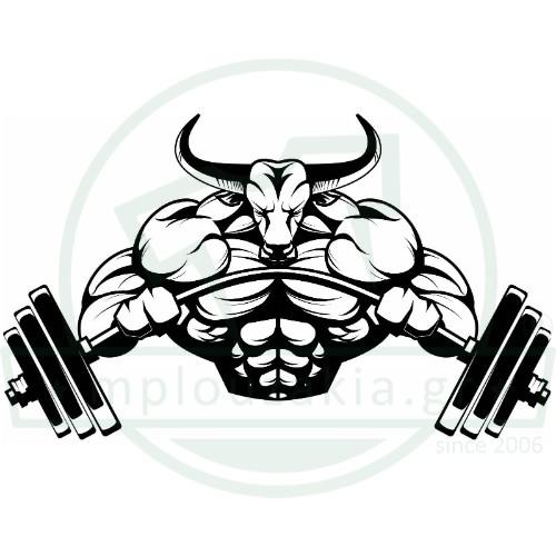 Ταύρος Βάρη Bodybuilding Illustration