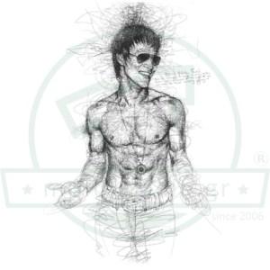 Bruce Lee Σκίτσο Μπλούζα