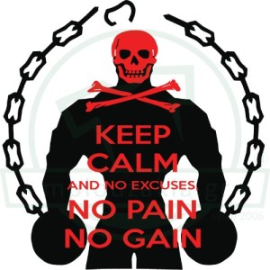 Keep Calm No Pain Gain
