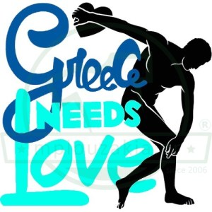Greece Needs Lover Print