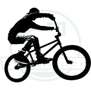 Ποδηλάτης Bmx Στάμπα