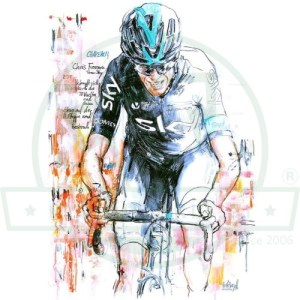 Chris Froome Ζωγραφιά Art