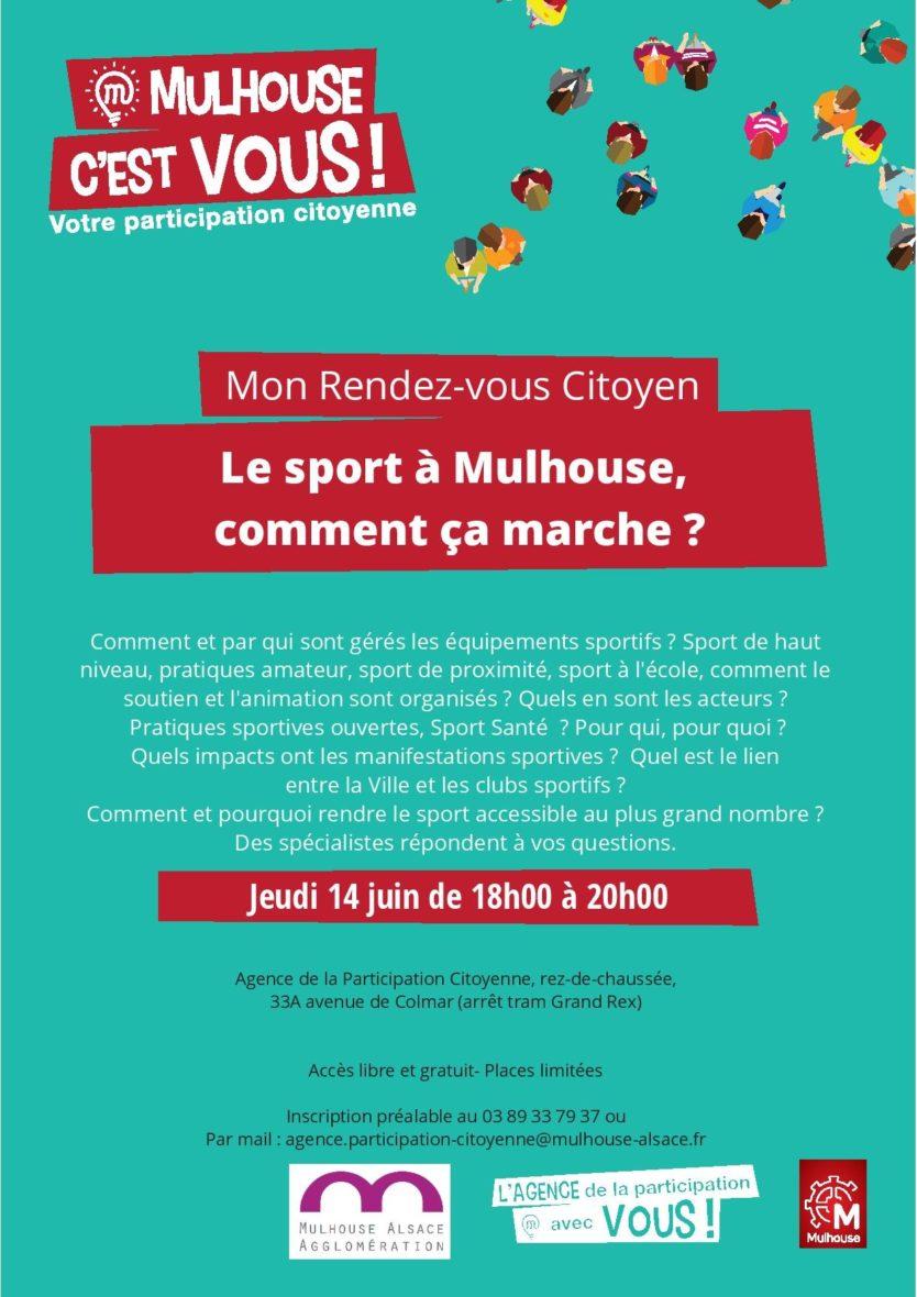 RDV Citoyen : le sport à Mulhouse, comment ça marche ?